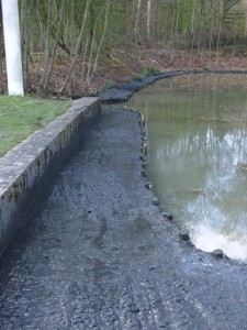New banks created with pumped out silt Chertsey project